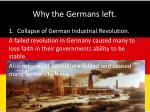 why the germans left