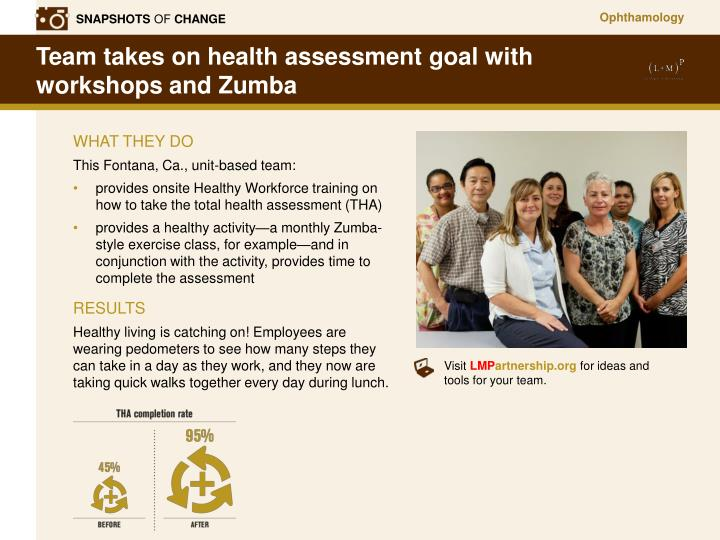 Ppt team takes on health assessment goal with workshops and zumba team takes on health assessment goal with workshops and zumba toneelgroepblik Gallery