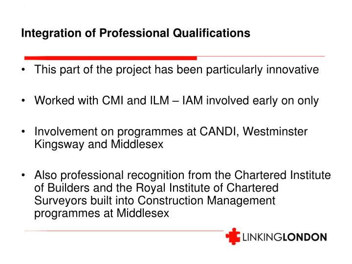 Integration of Professional Qualifications