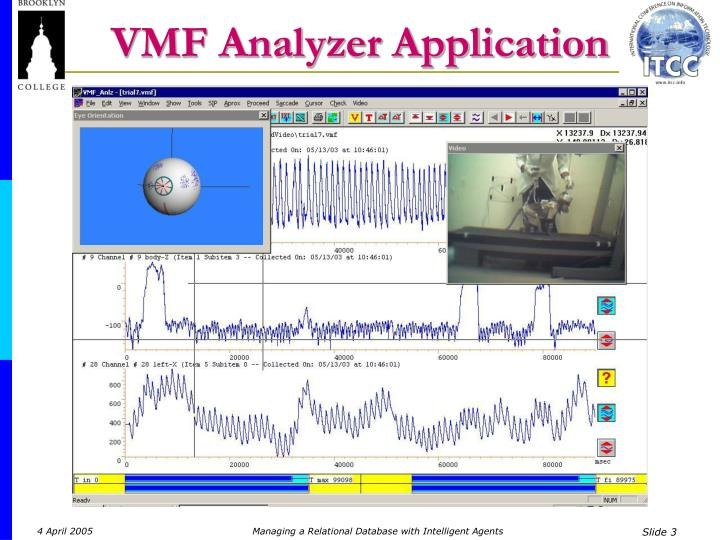 Vmf analyzer application