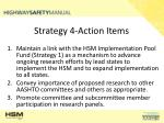 strategy 4 action items
