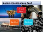 macam macam energi fosil