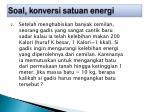 soal konversi satuan energi3