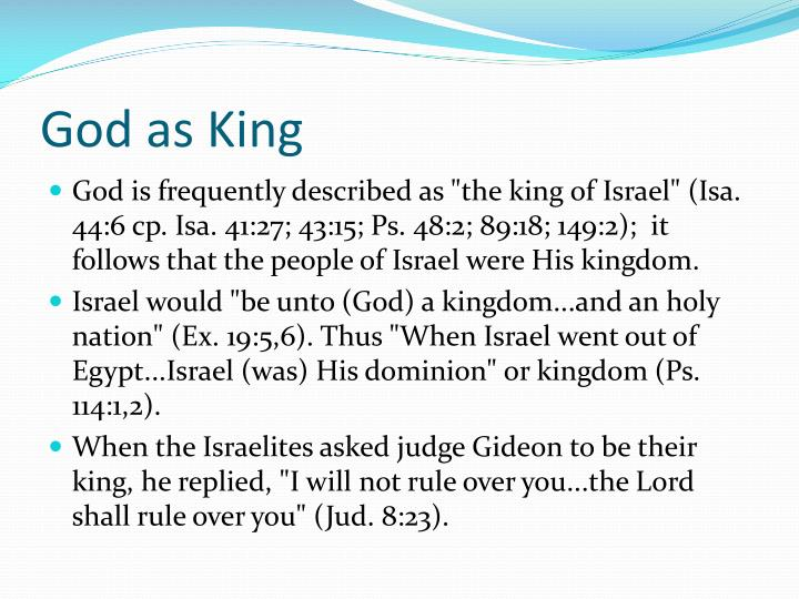 God as King