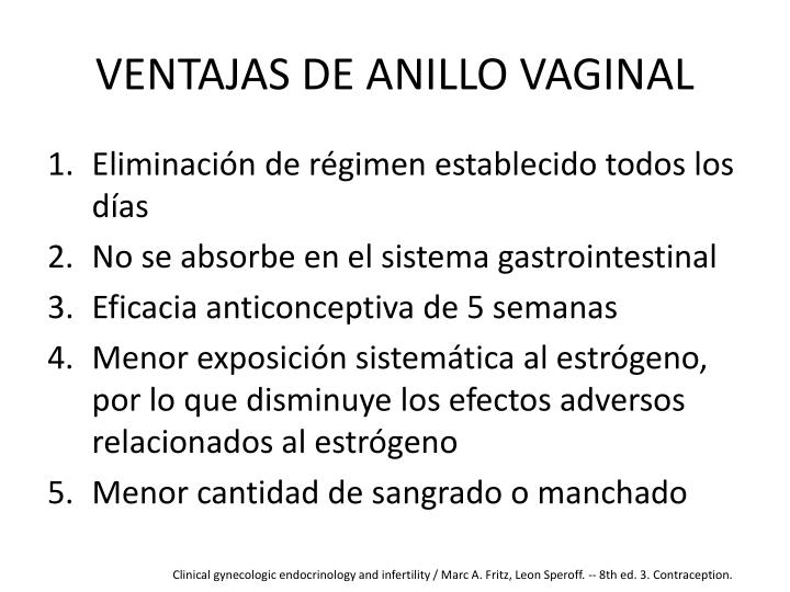 VENTAJAS DE ANILLO VAGINAL