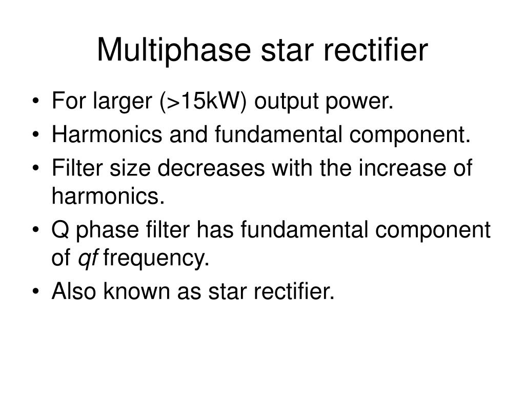 Ppt Multiphase Star Rectifier Powerpoint Presentation Id2780001 Full Wave Circuit With Averaging Filter Pictures N