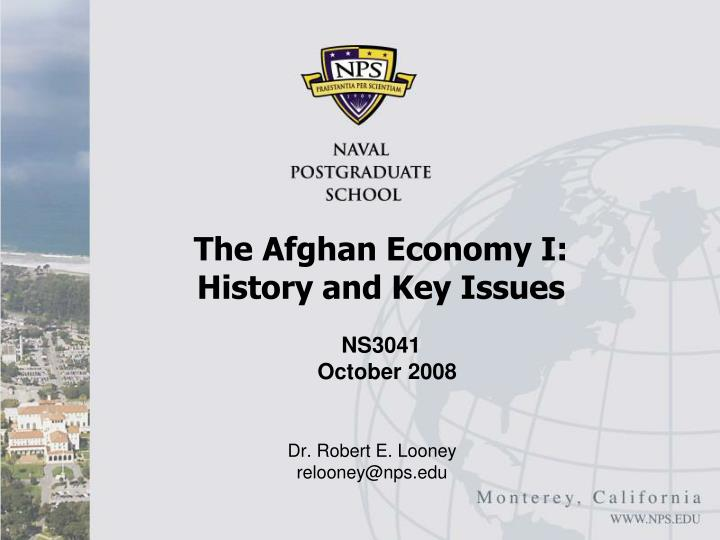 the afghan economy i history and key issues n.