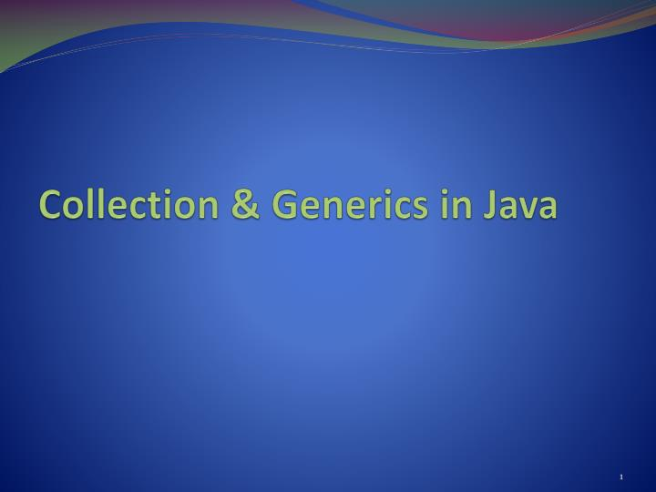 Collection generics in java