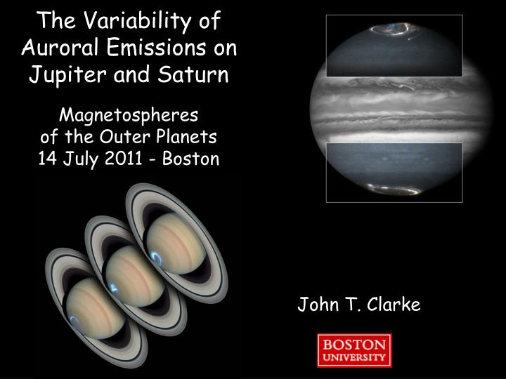 The Variability of Auroral Emissions on Jupiter and Saturn