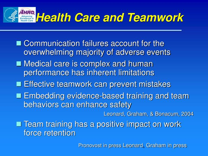 Health Care and Teamwork