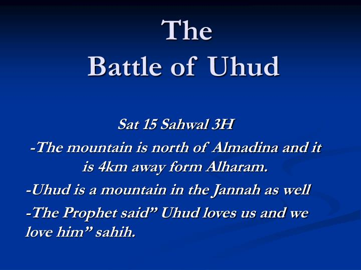 the battle of uhud n.