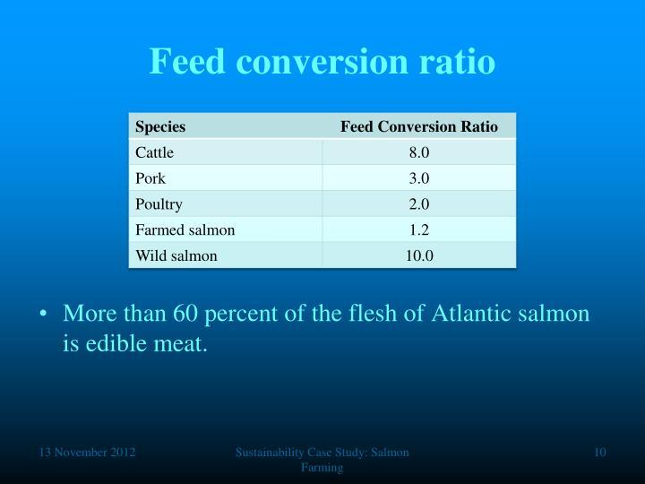 Feed conversion ratio