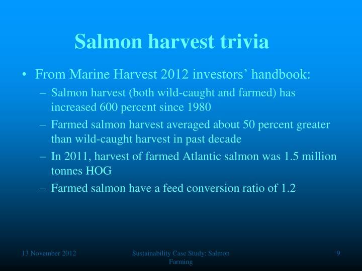 Salmon harvest