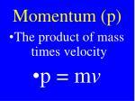 momentum p