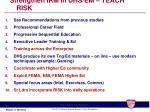 strengthen irm in dhs em teach risk