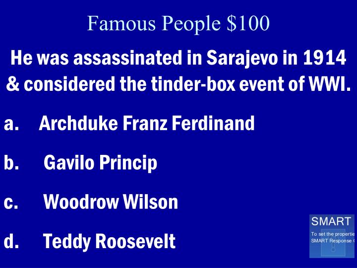 Famous People $100