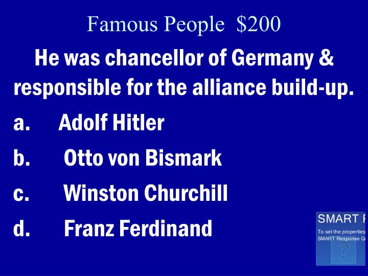 Famous People  $200