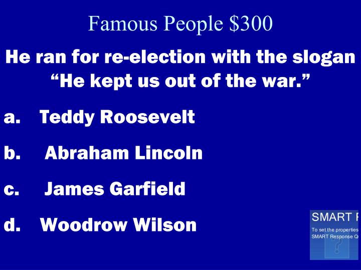 Famous People $300