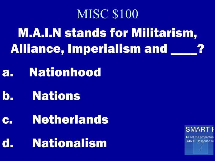 MISC $100