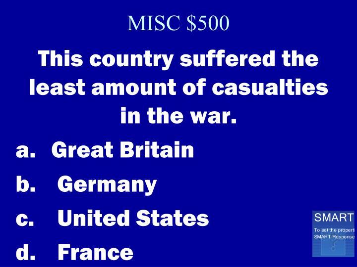 MISC $500