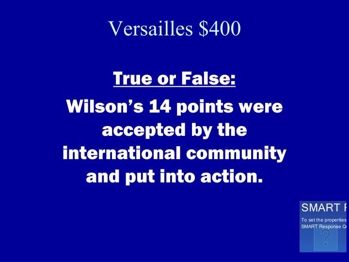 Versailles $400