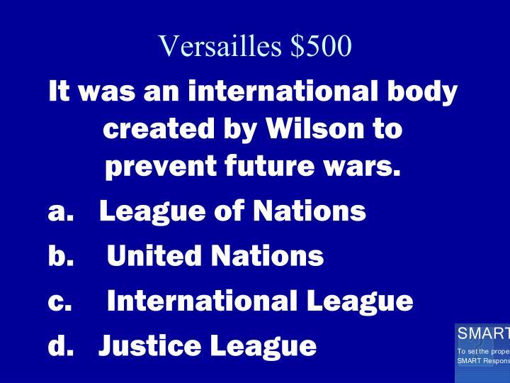 Versailles $500