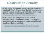 obstruction penalty