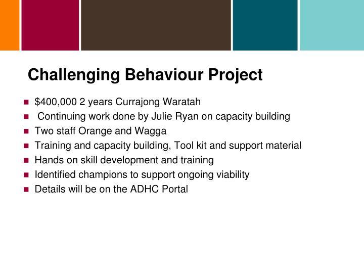 Challenging Behaviour Project