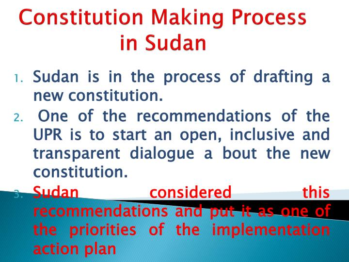 Constitution Making Process in Sudan