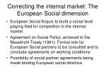 correcting the internal market the european social dimension
