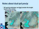 notes about dual pol precip