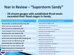 year in review superstorm sandy