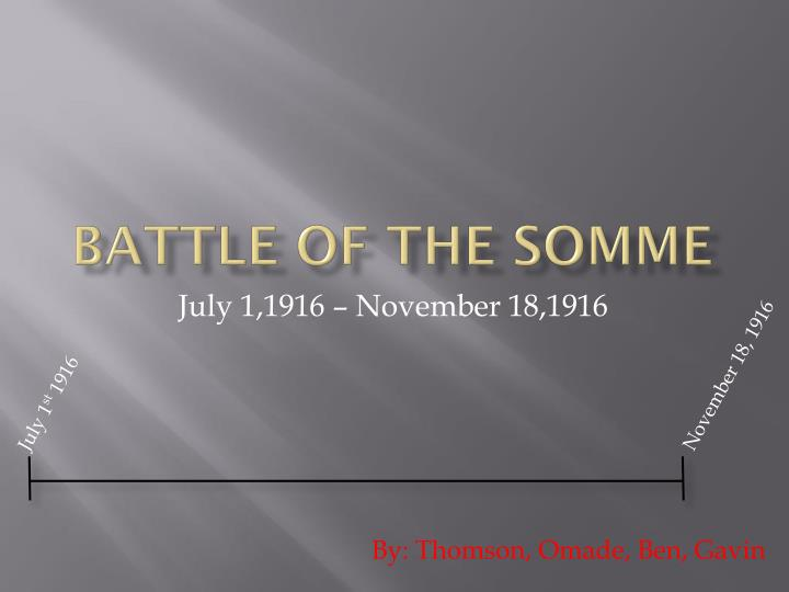 battle of the somme n.