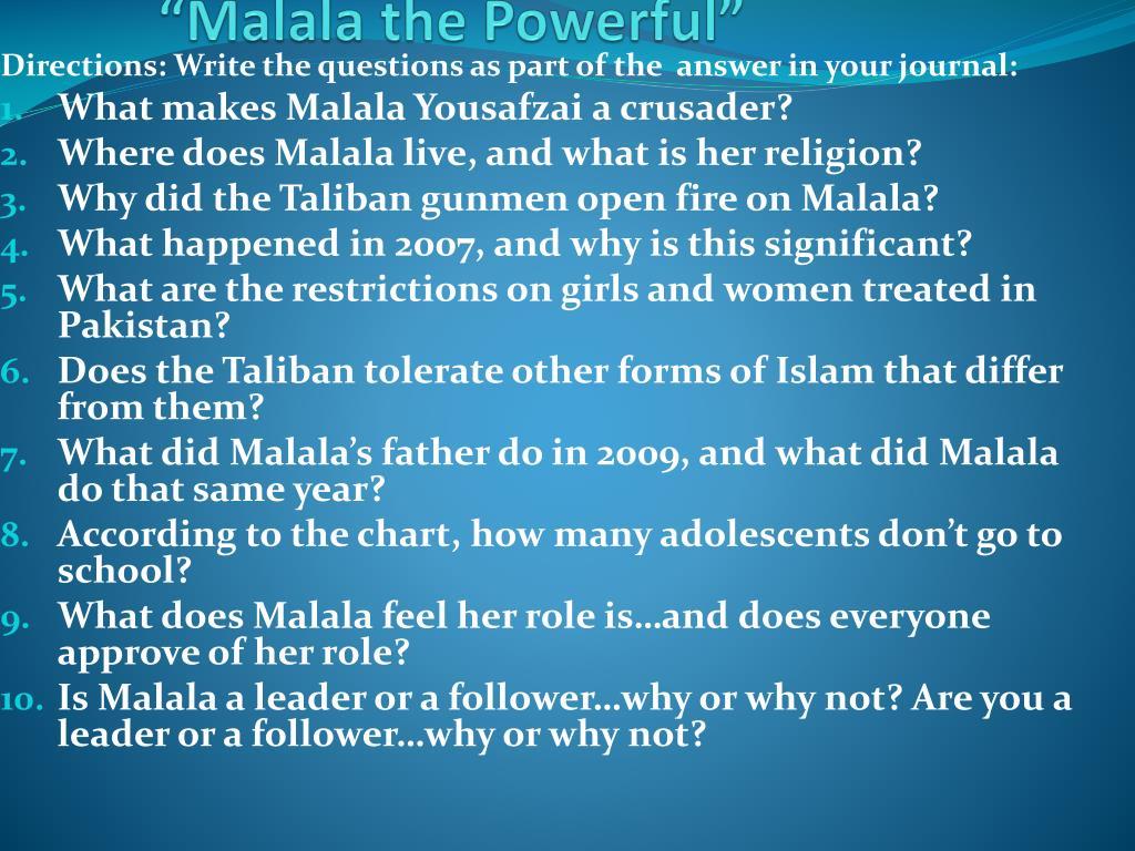 ppt malala the powerful powerpoint presentation id 2781591