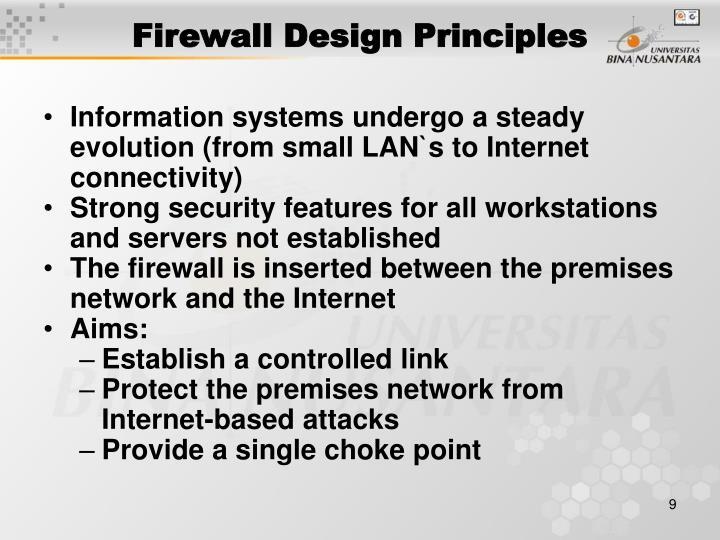 Firewall Design Principles