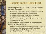 trouble on the home front