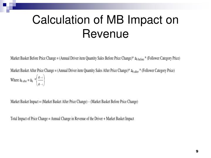 Calculation of MB Impact on Revenue