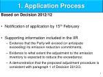 1 application process
