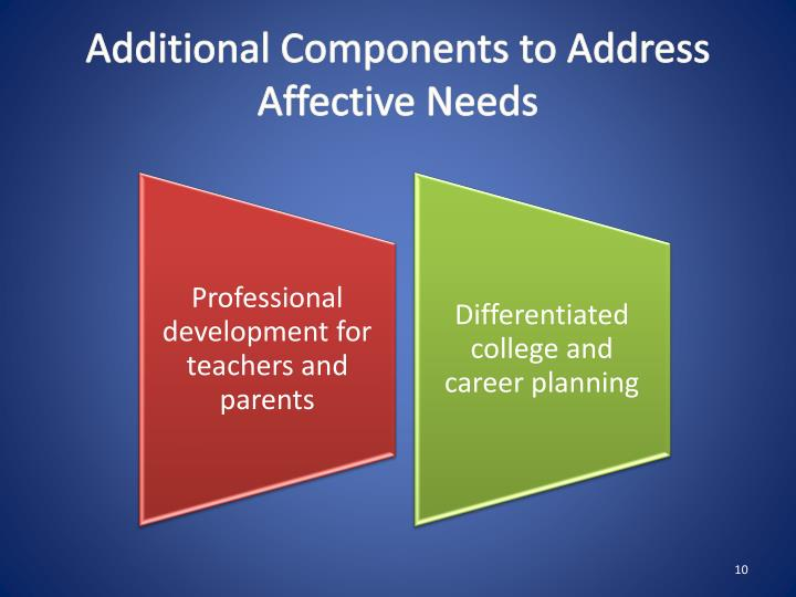 Additional Components to Address Affective Needs