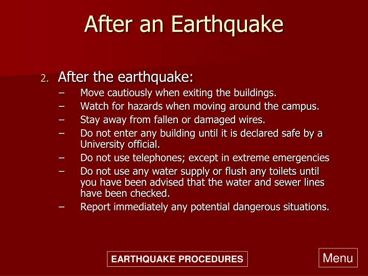 After an Earthquake