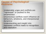 causes of psychological problems