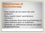 effectiveness of psychotherapy