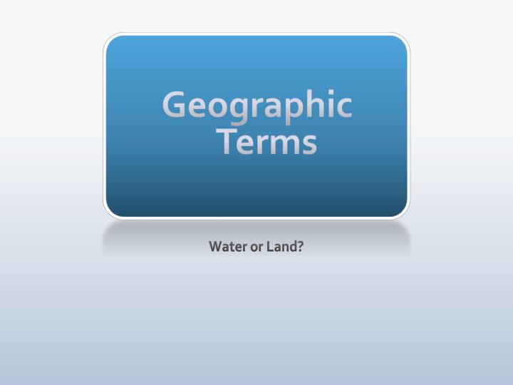 geographic terms n.