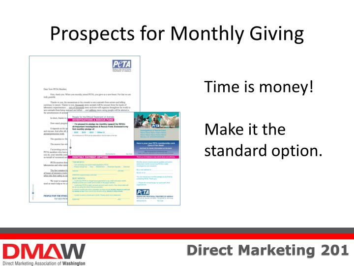 Prospects for Monthly Giving
