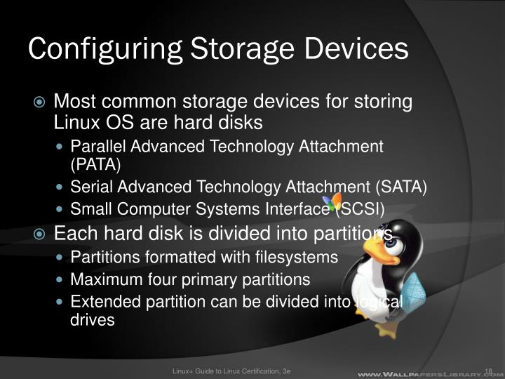 Configuring Storage Devices