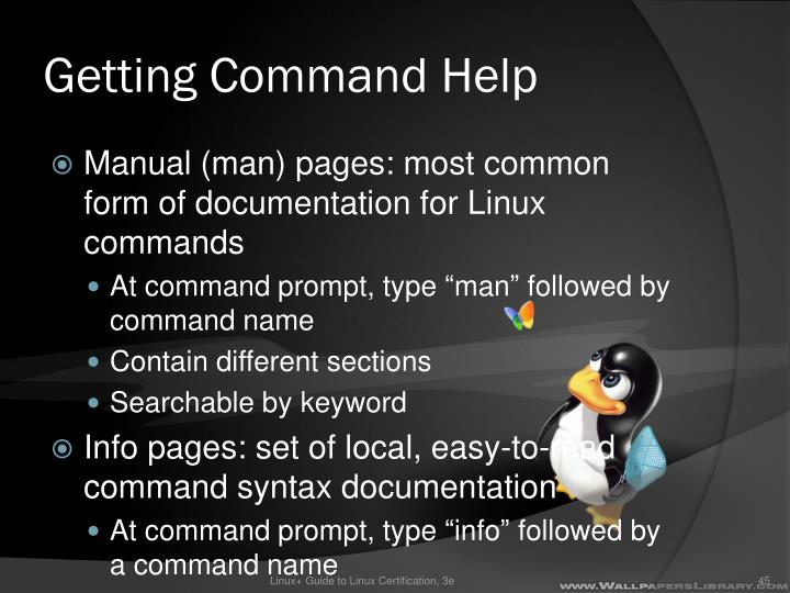 Getting Command Help