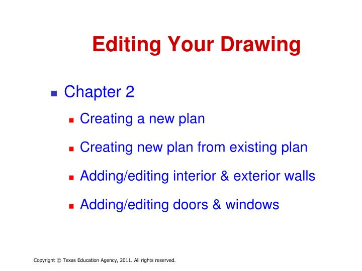 Editing your drawing