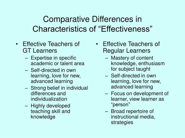 Effective Teachers of GT Learners