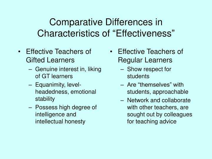 Effective Teachers of Gifted Learners