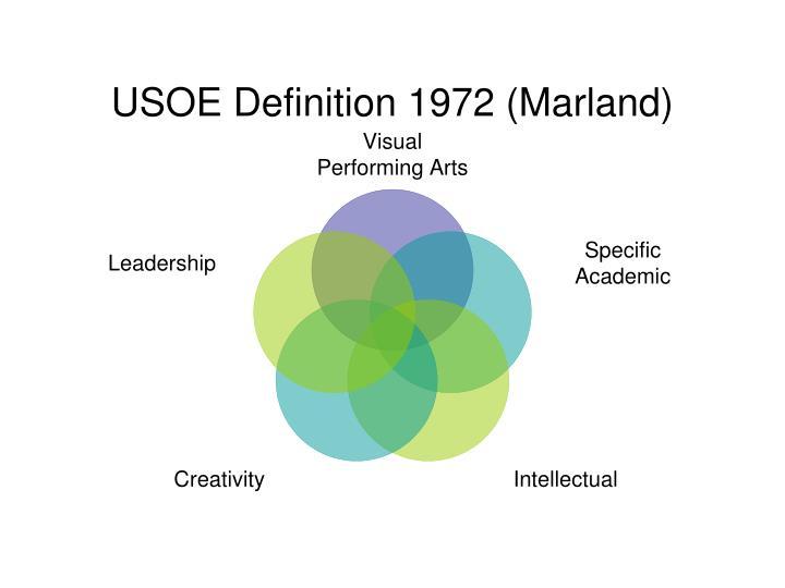 USOE Definition 1972 (Marland)